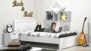 מדהים מיטה וחצי לילדים ונוער דגם ''דור'' בצבע לבן אטום - עצמל'ה QA-78