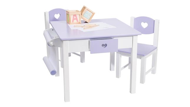 מתוחכם סט שולחן יצירה מרובע עם מגירות, כסאות וגליל נייר - עצמל'ה YQ-82