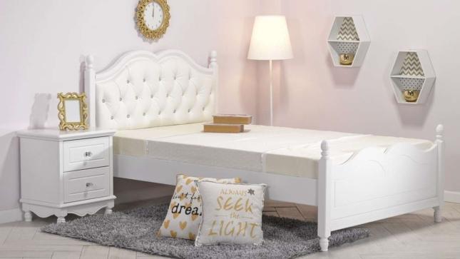 מפואר מיטה וחצי לנערות מדגם ''שירה'' (כולל ראש מיטה) - עצמל'ה רהיטים IQ-08